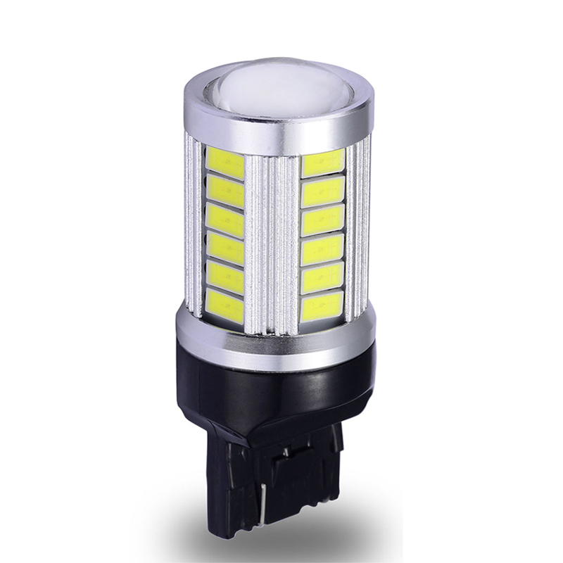 w21w led light Rear Turn Signal bulb Brake Parking Tail DRL lights with lens7440 T20 automobile lamp Car led 5630SMD 12VAC