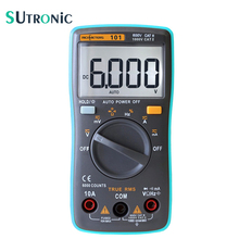 RM101 Auto Range Digital Multimeter 6000 counts Backlight Large Screen Buzzer Protection AC DC Ammeter Voltmeter Ohm Portable