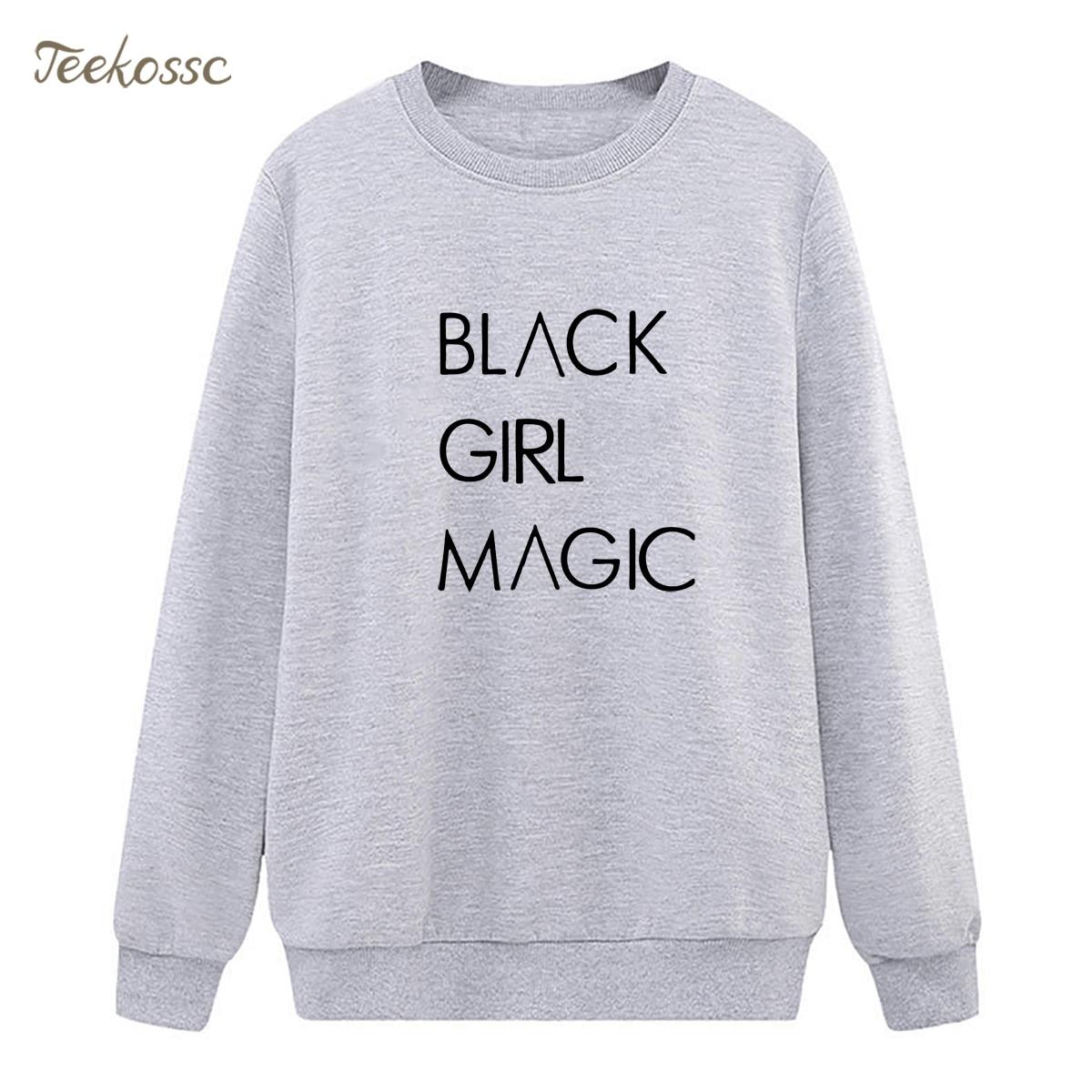 BLACK GIRL MAGIC Sweatshirt Casual Hoodie 2018 Winter Autumn Women Lasdies Pullover Fleece Warm Loose Streetwear Brand Clothing