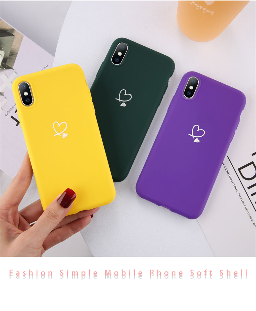 HTB1wirGcQxz61VjSZFtq6yDSVXas - Lovebay Colorful Love Heart Case For iPhone 6 6S 7 8 Plus 11 Pro X XR XS Max 5 5s SE Candy Color Phone Case Soft TPU Back Cover
