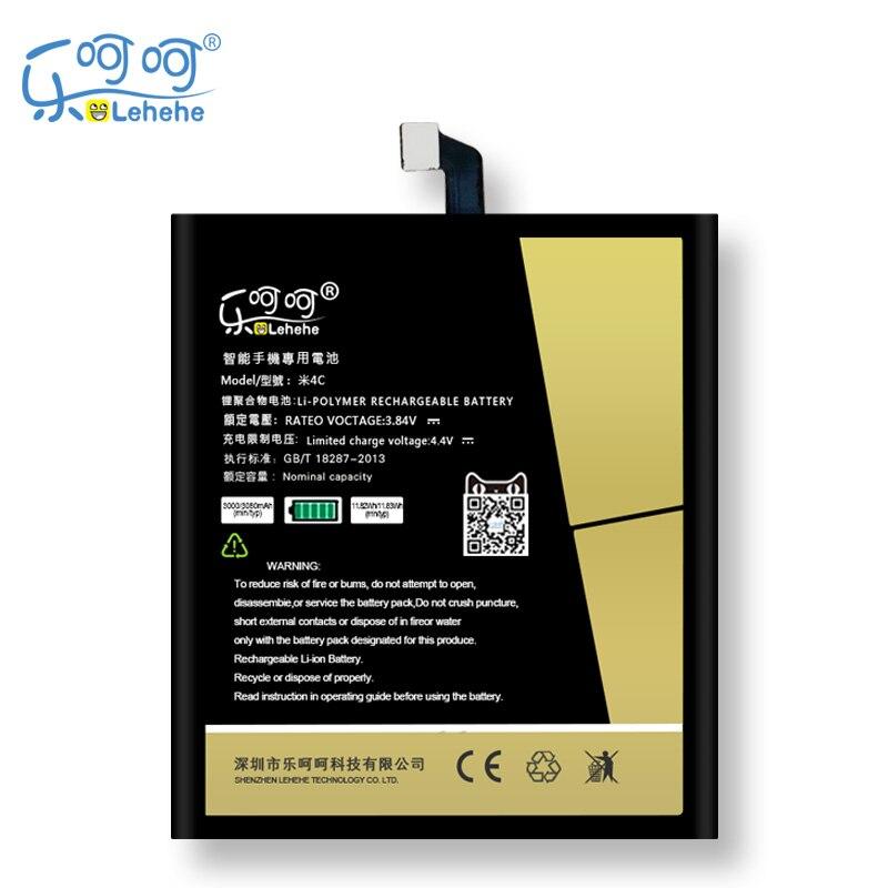 Original LEHEHE Batterie Für Xiaomi Mi 4c Mi4c BM35 3000 mAh Ersatz Bateria Kostenlose Tools Geschenke
