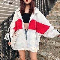 Куртки женские, летние, свободные, универсальные, трендовые, белые, повседневные, в Корейском стиле, в стиле Харадзюку, для отдыха, женская од...