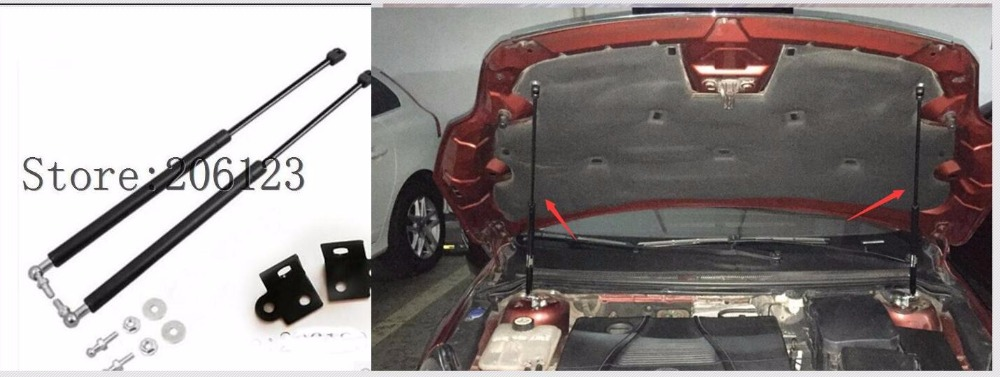 2005 2006 2007 2008 2009 2010 2011 For Ford Focus ACCESSORIES CAR BONNET HOOD GAS SHOCK STRUT LIFT SUPPORT CAR STYLING 2pcs car gas shock hood shock strut damper lift support for skoda octavia a7 mk3 stainless steel hydraulic rod car accessories