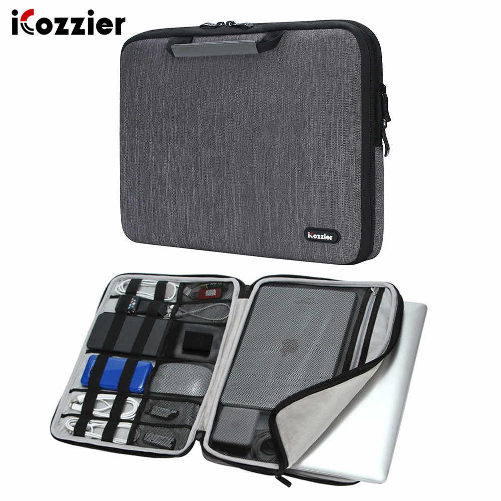 "ICozzier 11.6/13/15.6 pouces poignée accessoires électroniques pochette pour ordinateur portable étui sac de protection pour 13 ""Macbook Air/Macbook Pro"