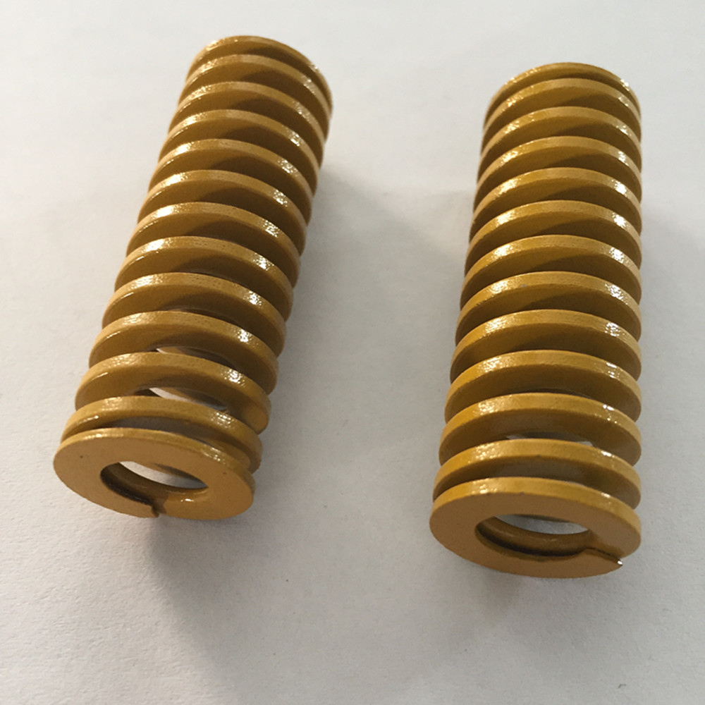2Pcs Yellow Spiral Stamping Compression Die Spring 16 X 8 X 20/30/50/60/80/100mm