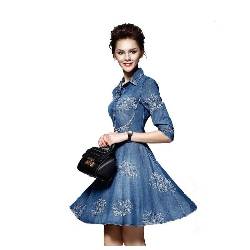 Plus velikost 5XL 2019 letní džínové šaty dámské šaty s půl rukávem modré džínové šaty džíny dámské dámské společenské šaty A18