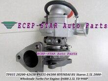 Free Ship TF035 28200-42650 49135-04300 49135 04300 49135-04302 Turbo Turbocharger For HYUNDAI H1 Starex 2000- D4BH 2.5L TD 99HP