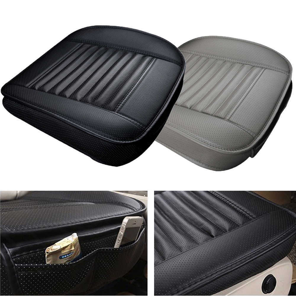 Waterproof Auto Car Seat Cover Pad PU Leather Bamboo Charcoal Car Seat Cushion Seat Protecor With Pocket Auto Accessories