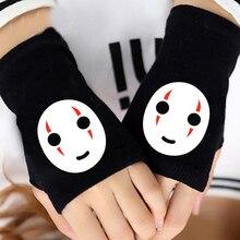 HOT Anime Spirited Away Half Finger Cotton Knitting Wrist Gloves Mitten Lovers Accessories Cosplay Fingerless Fashion NEW
