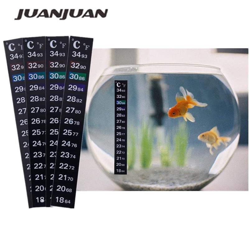 1/2/3/5pcs /lot Stick-on Digital Aquarium Fish Tank  Fridge Thermometer Sticker Temperature Temp Measurement  Stickers 20%