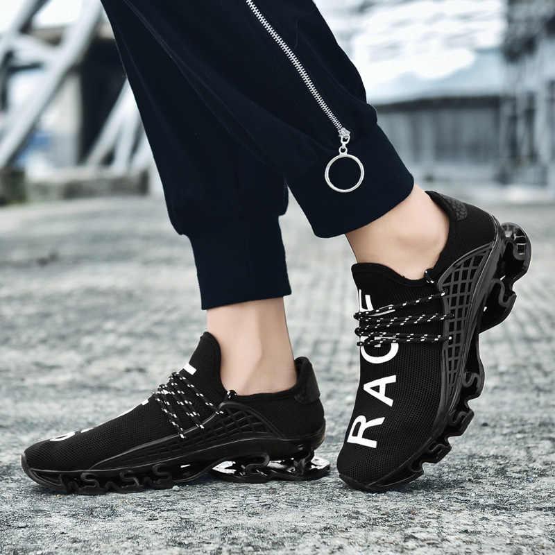 Nuevo calzado a la moda Casual talla grande 48 para hombre, zapatos transpirables de malla suaves y cómodos para caminar, zapatos para hombre, zapatillas deportivas para caminar al aire libre para hombre