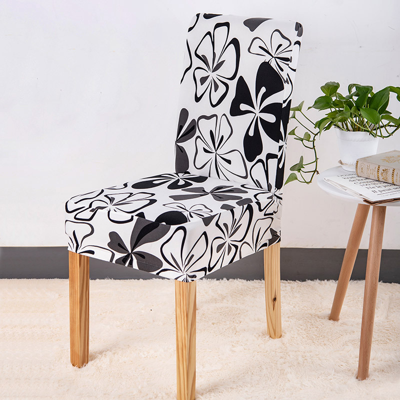 1 Piece Floral Printed Chair Cover with Elastic Used as Dining Chair Covers in Universal Size