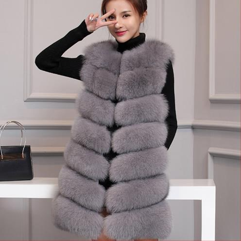 b69ef6646b6ec Color Vêtements Natural Furry Gilet Noir blanc rose Gilets Fourrure noir  gris ardoisé Femmes 2018 Manteau Gris J181 Taille Fausse Grande 4xl Mince  D'hiver ...