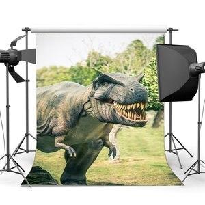 Image 1 - 3D dinosaure toile de fond jurassique période dessin animé décors Jungle forêt arbres conte de fées photographie arrière plan décoration