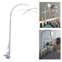 Baby Crib Holder White Rattles Arm Bracket Set Cot Fold 360 Degree Rotating Cribs Clamp Bed Bell Mobile Wind-up Music Box Toys(China)