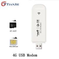 TIANJIE 4G Modem USB Dongle Mobile 100 Mbps Network Adapter Cat 3 Broadband Unlocked Universal Wireless