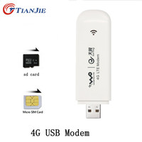 TIANJIE 4G Modem USB Dongle Mobile 100 Mbps Network Adapter Cat 3 Broadband Unlocked Universal Wireless