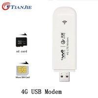 Tianjie 4 г модема USB Dongle мобильный 100 Мбит/с сетевой адаптер Cat 3 широкополосный открыл Универсальный Беспроводной с сим