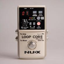 NUX Loop Core Deluxe гитары педаль эффектов петля станции 8 часов цикличное выполнение время Встроенный барабан моделей с педаль Правда обход