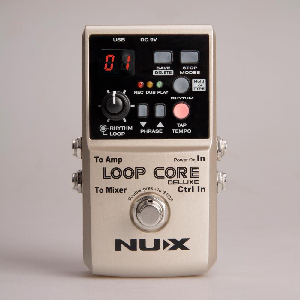 NUX Loop Core Deluxe effets de guitare pédale Loop Station 8 heures de temps de bouclage modèles de batterie intégrés avec commutateur de pédale True dérivation