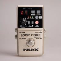 Nux loop núcleo deluxe guitarra efeitos pedal loop estação 8 horas looping tempo built-in padrões de bateria com pedal interruptor true bypass
