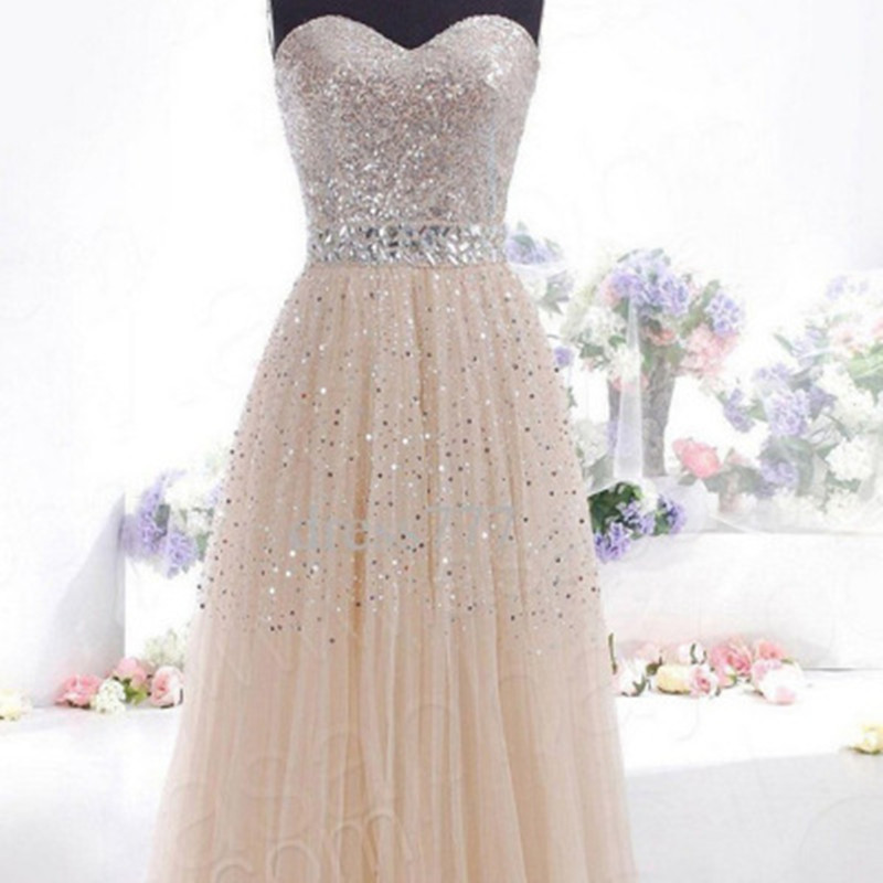 2017 New Women Elegant Strapless Long Dress Sexy Backless with Sequins High Quality Girls Party Evening Dresses Maternity Cloth