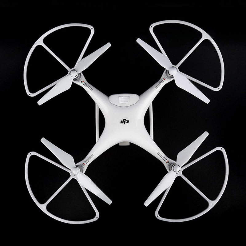 4PCS DJI Phantom 4 Professional Pro+ Quadcopter Prop Guard-Quick Release Propeller Protector White Snap On/off