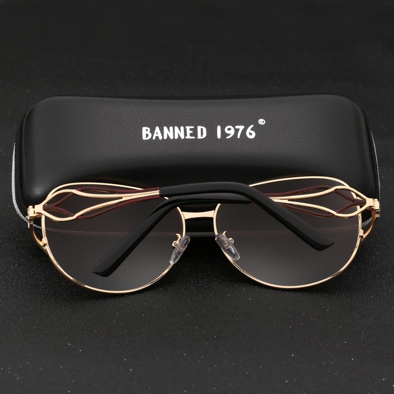 5f043a68e BANNED women's HD polarized fashion Sunglasses hot sell newest brand name  lens feminin diamond sun Glasses vintage with gift box-in Sunglasses from  Apparel ...