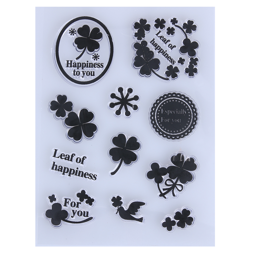 Flower Leaf Transparent Silicone Stamp Seals DIY Silicone Seals Scrapbooking/Photo Album Decorative Supplies Clear Stamp Sheets loving heart and ballon transparent clear stamp diy silicone seals scrapbooking card making photo album craft cl 285