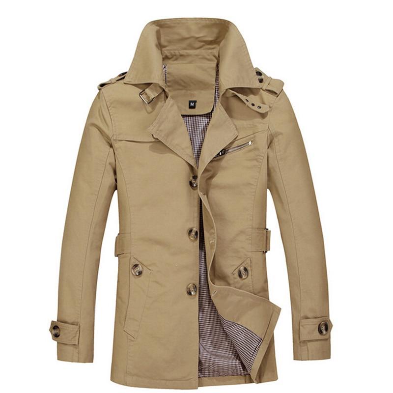 Hommes Slim Manteau 2016 Nouvelle Vente Chaude Brun Longue Veste - Vêtements pour hommes - Photo 1