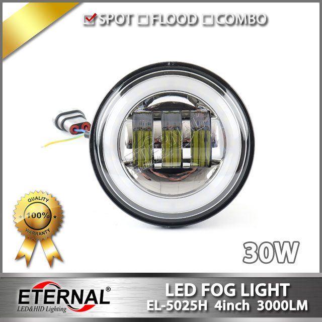 free shipping pair 30W 4.5 round fog lamp universal for motorcycle off-road 4x4 automotive vehicles driving lamp with halo ring starpad for xinyuan off road motorcycle accessories x2 x2x off road vehicles after the fender white