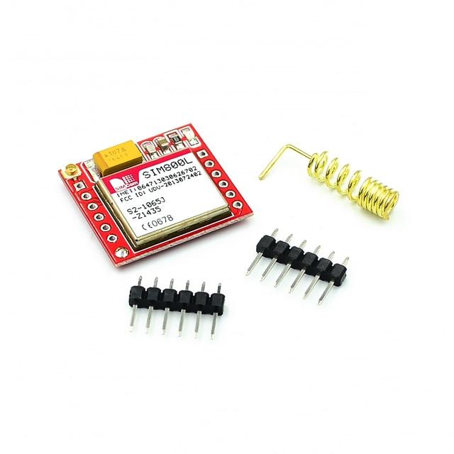 Smallest SIM800L GPRS GSM Module MicroSIM Card Core BOard Quad band TTL Serial Port