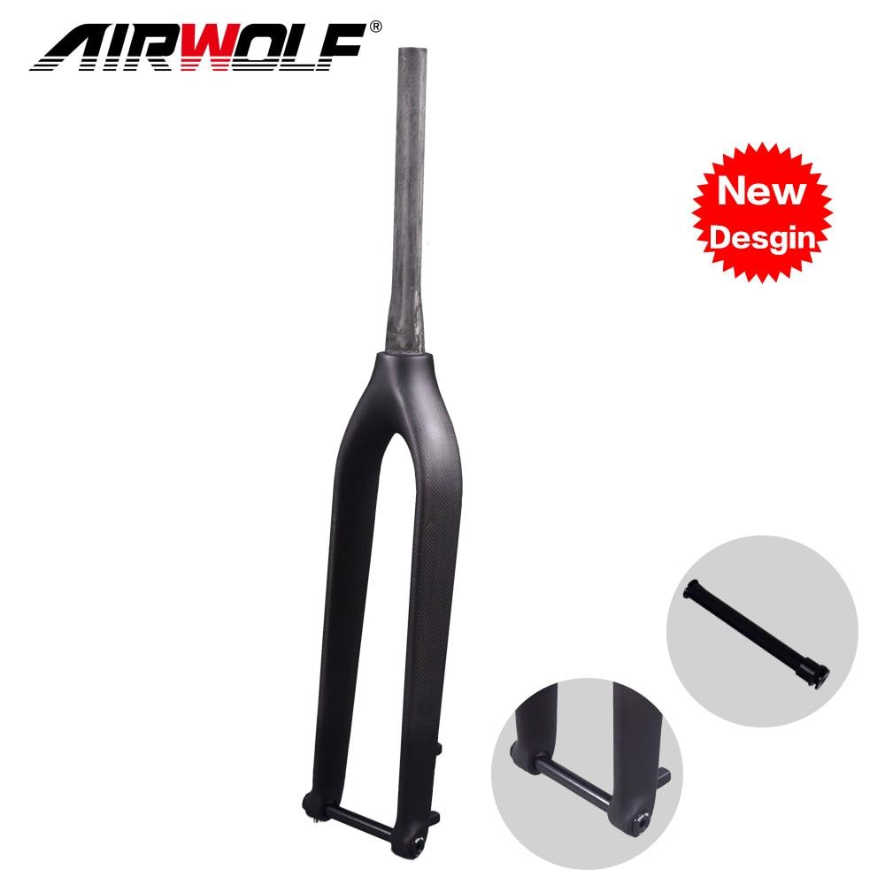 Airwolf carbon fork 29 3K UD black weave carbon fork 1 1 8 to 1 1