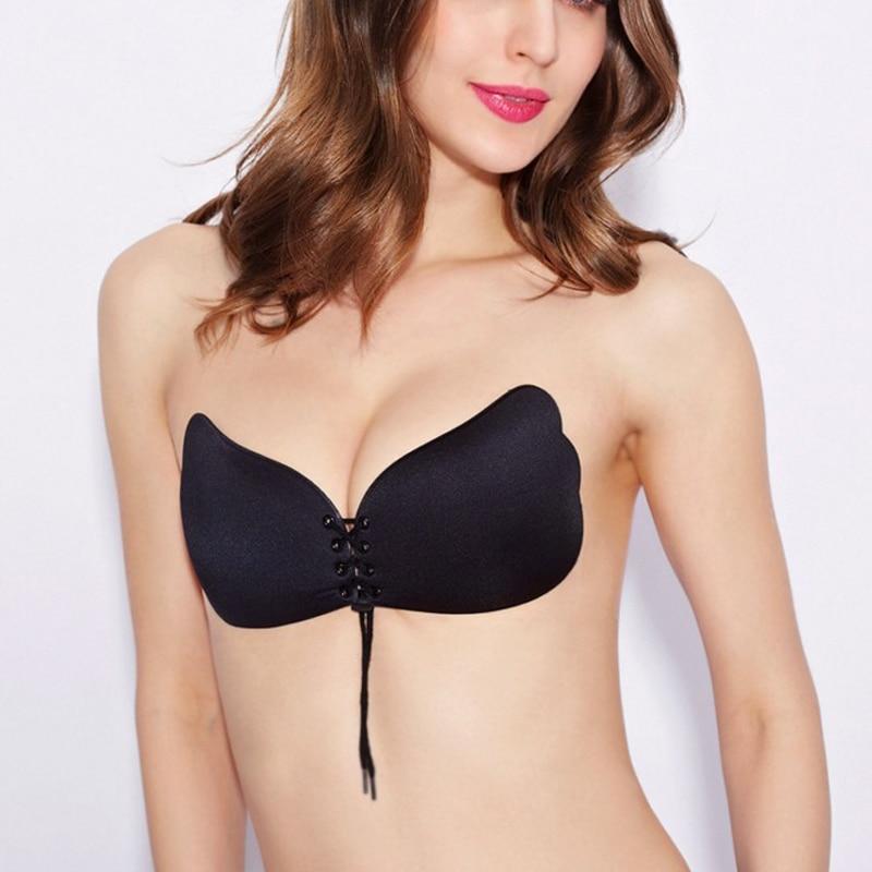 V Bra Strapless stay Women bra Invisib...
