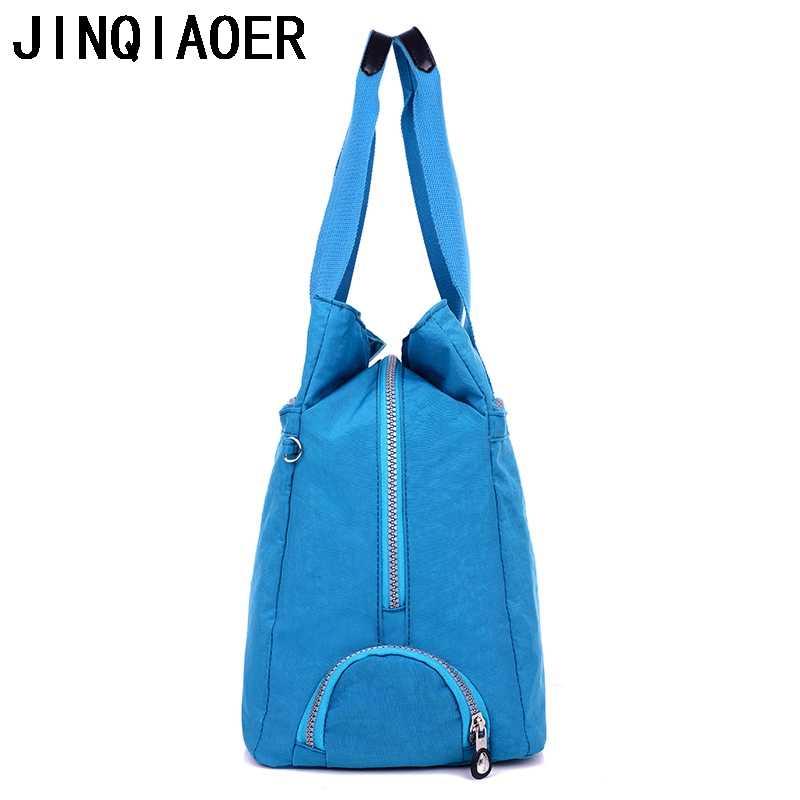 JINQIAOER Nylon Messenger Bag Kapasitas Besar Perempuan Tas Bahu Tas Kasual Tote Fashion Wanita Crossbody Tas Untuk Wanita
