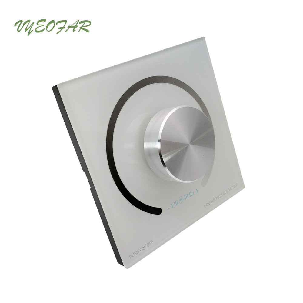New Led Strip Dimmer 12V Dimming PWM controller Wall Mount Led Digital Display 1-100 Range single color strip 12V dimmer стоимость