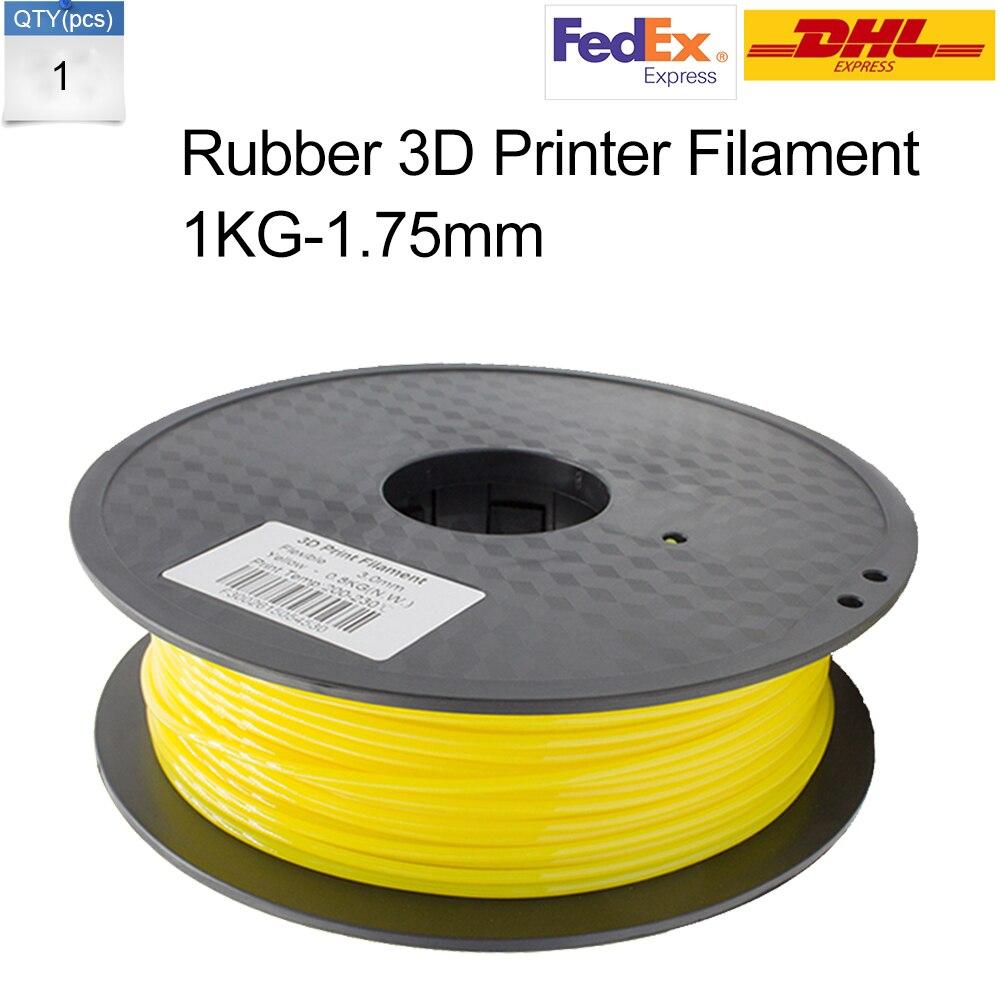 ФОТО Send by DHLOr Fedex 3D Printer Rubber Filament 1KG/Roll 1.75 MM 3D Printer Filament HIPS RepRap Makerbot
