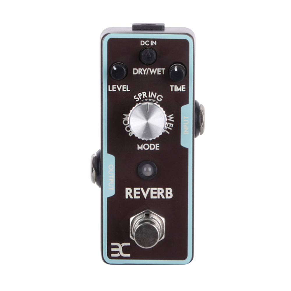 2017 High Quality Guitar Pedal Electric Guitarra Single Digital Reverb Electric Guitar Effect Pedal Mini Single Effect With True aroma aos 3 octpus polyphonic octave electric guitar effect pedal mini single effect with true bypass