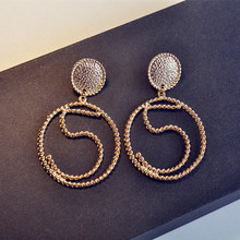 Hot sale exaggerated Online Store Bobo Chic Bijouterie Factory Wholesale No 5 hoop Earrings