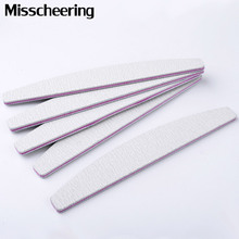 Professionell 5st / set Nail File 100/180 Sanding Buffer Block DIY Nail Tips Polering Remover Kit Manicure Pedicure Tools