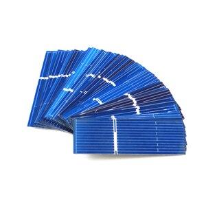 Image 3 - 50 шт./лот x поликристаллические силиконовые панели солнечных батарей Painel DIY зарядное устройство Sunpower Солнечный борд 52*19 мм 0,5 В 0,16 Вт