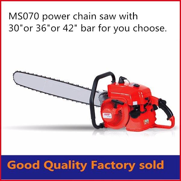 42 inch bar 105cc chain saw ms070 heavy chain saw gasoline chain saw with free shipping
