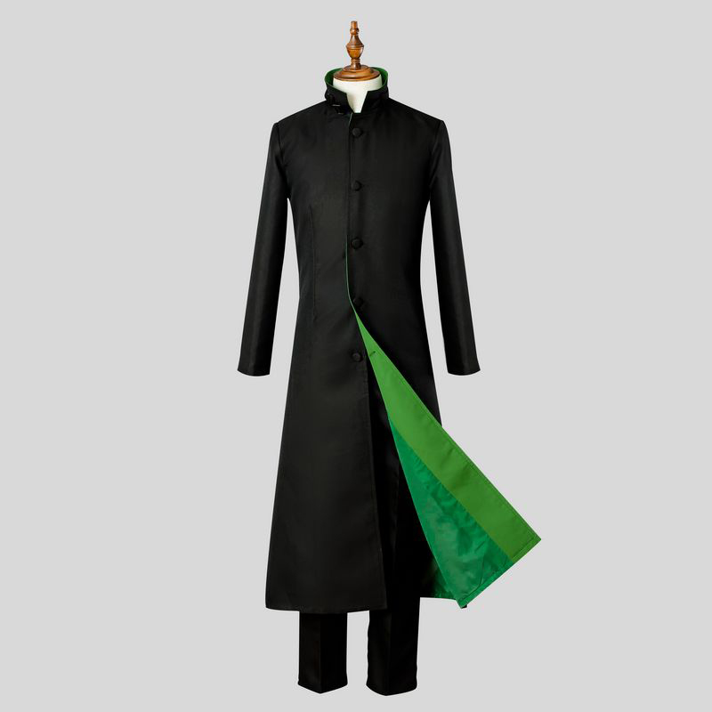 Anime Darker than BLACK Hei Cosplay Costumes Li Shenshun Costume Long Trench+Shirt+Pants New For Adult Men S XL