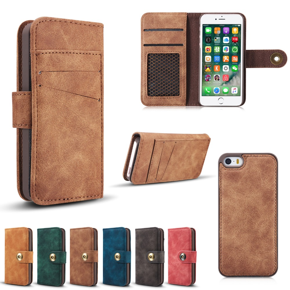 wallet case for iphone 5 daxing for iphone 5s magnetic 2 in 1 wallet 18165
