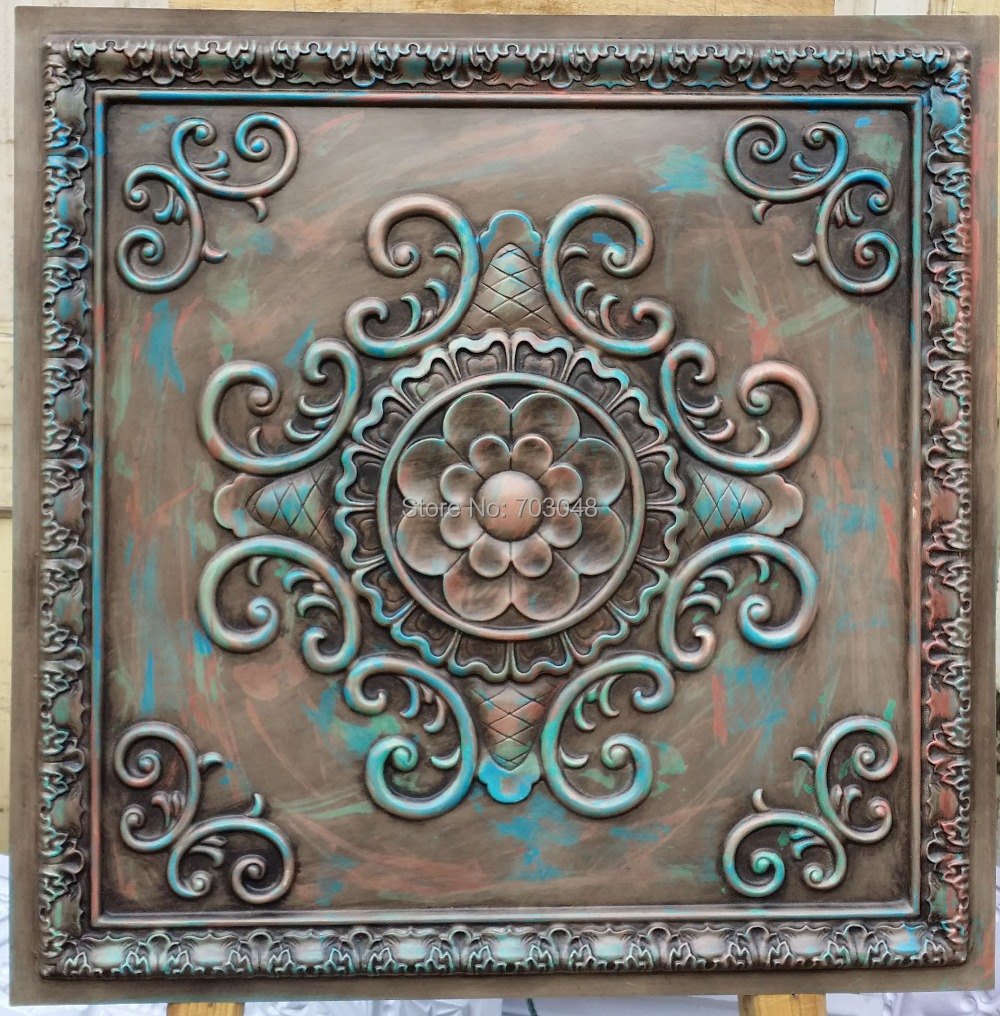Pl08 Faux Finishing Tin Ceiling Tiles Antique