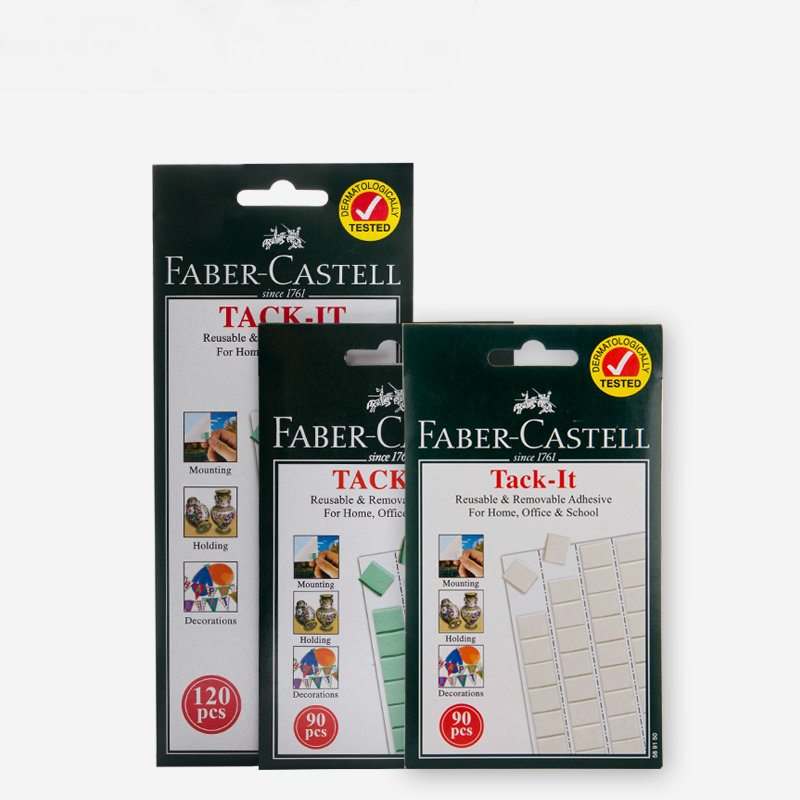 Faber castell Tack It Reusable & Revovable Adhesive Glue 50g/90Pcs 75g/120Pcs Blue/White For Home Office School 12 pcs cyanoacrylate quick dry adhesive strong bond fast 502 super liquid glue for leather rubber metal home office school tool