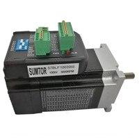 100W 36V DC 3000RPM NEMA23 57mm 0.29Nm Integrated Servo Driver + Motor + Encoder Brushless All in one 8poles 3phase