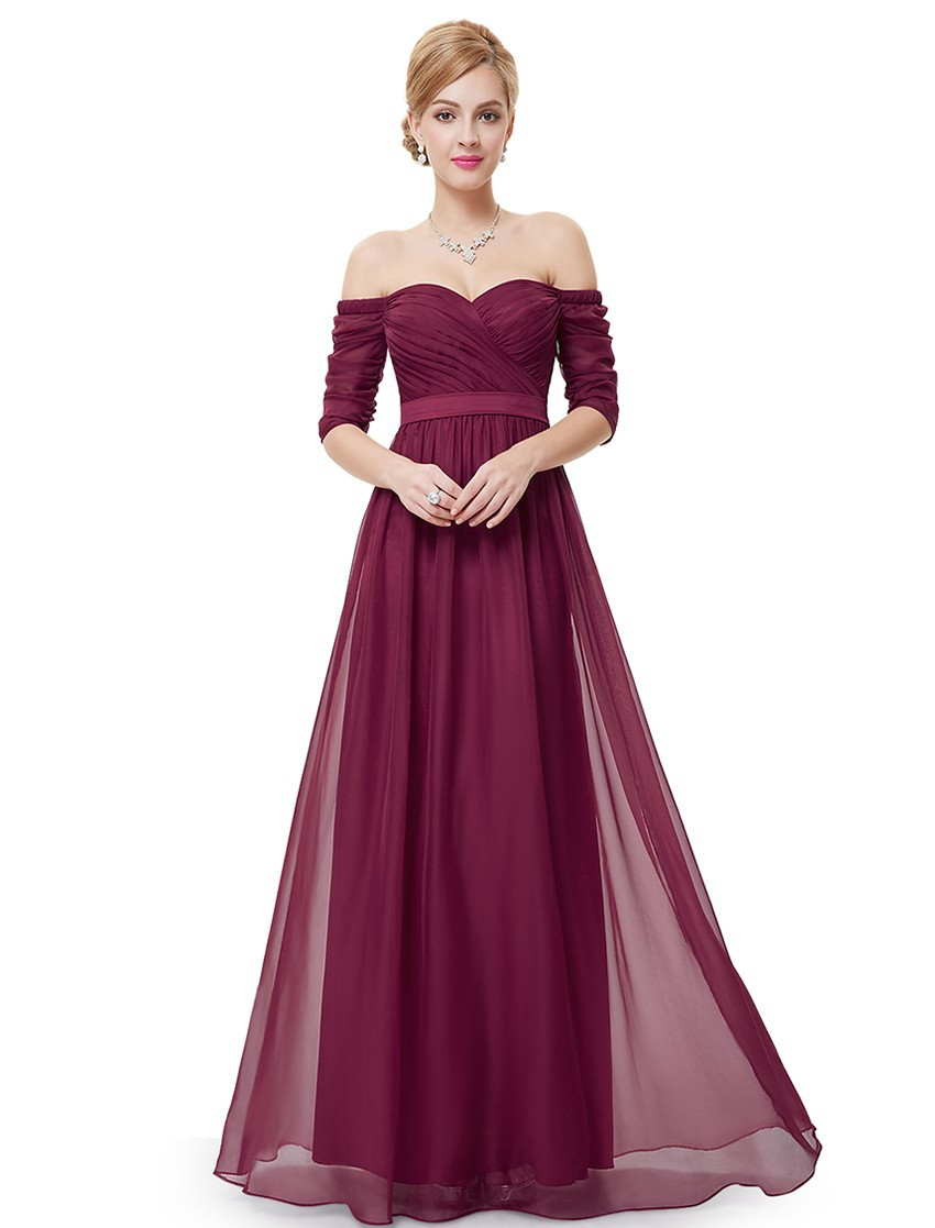 Compare prices on long red dress bridesmaid online shoppingbuy bridesmaid dresses half sleeve long red prom 2017 new style fashion women wedding party ep08411 ombrellifo Gallery