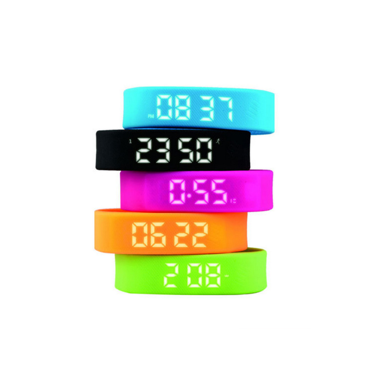 3D T5 LED Display Sports Gauge Fitness Bracelet Smart Step Tracker Pedometer With Battery