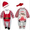 2015 Новые Рождественские Детские ползунки, осень зима одежда наборы baby boy девушка одежда для новорожденных новый год рождество человек комбинезон